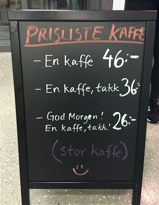 Kaffeskilt - Giv dine kunder et smil på læben