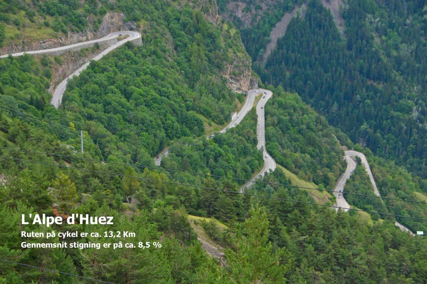 køre op ad Alpe d'Huez på cykel